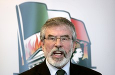 Gerry Adams lashes 'new Redmondites' and 1916 College Green banner