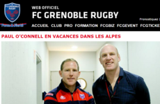 Paul O'Connell cutting his coaching chops with Grenoble for 'a few days' (or weeks)