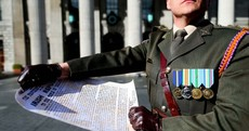 Watch: The proclamation of the Irish Republic has been read once more at the GPO