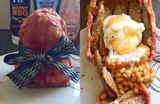 This woman made her boyfriend a bacon 'Easter egg' with a full fry hidden inside