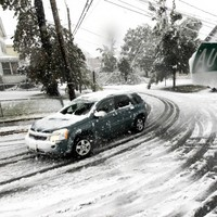 In pictures: Freak snowstorms paralyse north-east US