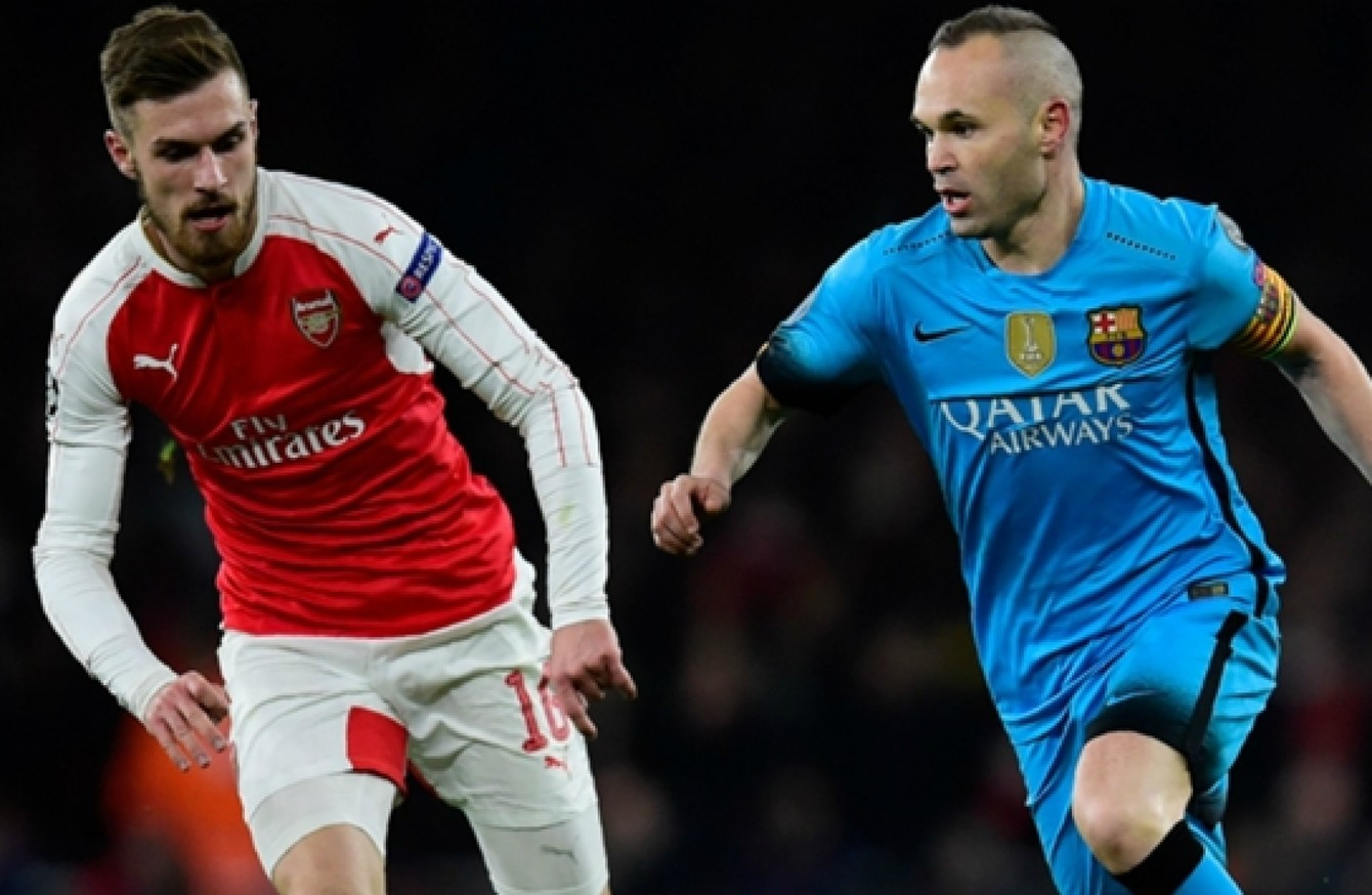 various colors 44a0d 08ac8 Aaron Ramsey would shine at Barcelona' · The42