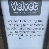 Everyone is cracking up at this Dublin beauty salon's special 1916 offer