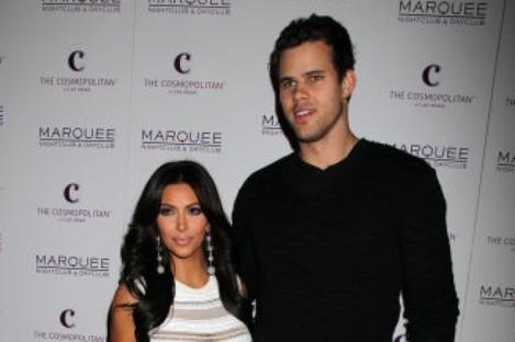 Kim Kardashian and Kris Humphries pictured at Kardashian's birthday party last week