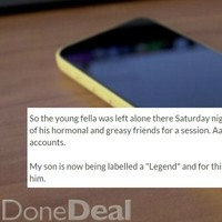 This Cork dad put his son's phone on DoneDeal as punishment for having a party
