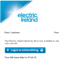 Beware: This scam email is being sent to Electric Ireland customers