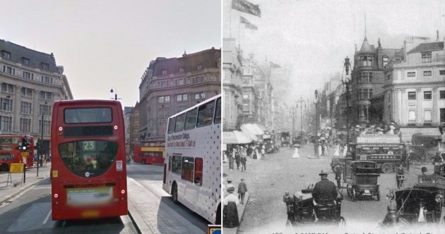 As it was: These photos compare London as it is now with how it was 100 years ago