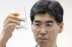 Japanese MP drinks water collected from Fukushima plant