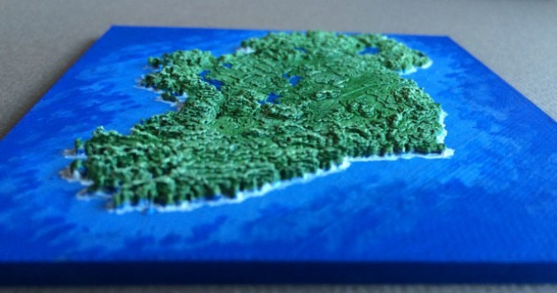An Irish emigrant has designed this amazing map for people to 3D print