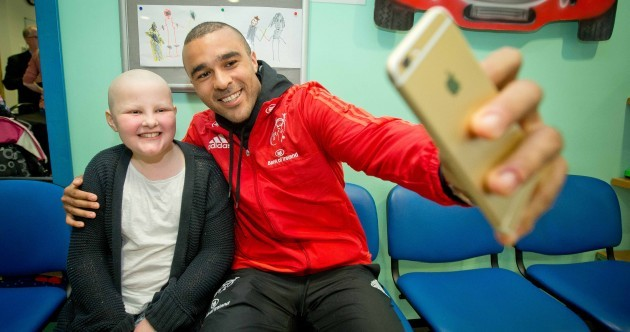 The Munster squad were putting smiles on faces today at Crumlin Children's Hospital