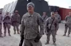 A US soldier singing a Wolfe Tones' song in Afghanistan has caused a bit of a stir online