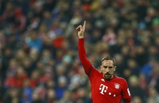 A moment of acrobatic brilliance from Franck Ribery secures Bayern a key win