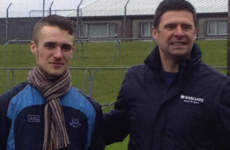 Niall Quinn had a special reason to celebrate Dublin's Leinster U21 title win