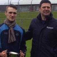 Niall Quinn had a special reason to celebrate Dublin's Leinster U21 title win