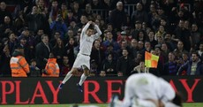 Acrobatic Benzema and cool Ronaldo finish gives 10-man Real win in Barcelona