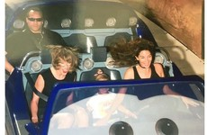 This photo of Taylor Swift's bodyguard having zero craic on a rollercoaster is brilliant