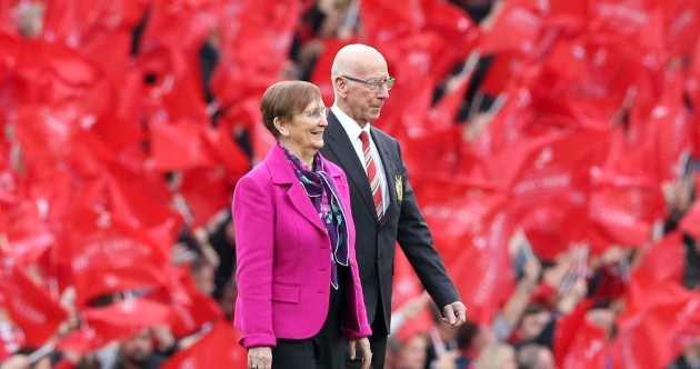 Man United honour club legend Sir Bobby Charlton with renaming of Old Trafford stand