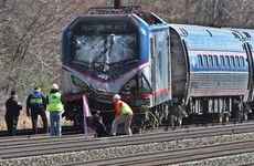 Two dead as train hits digger near Philadelphia