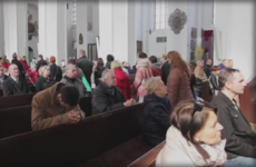 Women walk out of church as priest reads anti-abortion letter