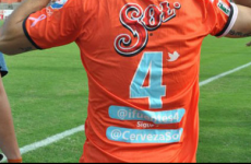 Mexican club put players' Twitter handles on back of jerseys