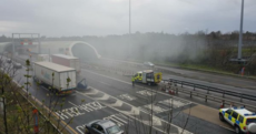Port Tunnel closed as truck catches fire