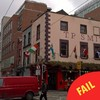 This Dublin pub was caught rapid flying the Ivory Coast flag