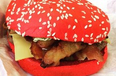 Burger King is launching these mad-looking red burgers in Ireland today