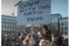 Father Ted's famous protest sign has caused some confusion in Iceland