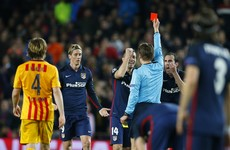 Did Fernando Torres deserve to be sent-off for this challenge on Sergio Busquets?
