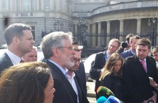 "Gerry Adams lashes out at ""charade"" of voting for a Taoiseach who can't be elected"