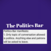 Dublin could get a bar where phones are banned and you have to talk politics