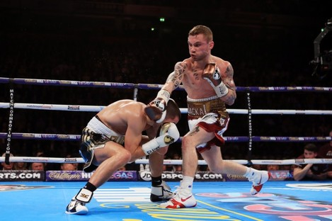 Frampton beat Quigg to win the WBA title in February.