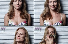 A photographer showed how your face changes at different stages of drinking wine