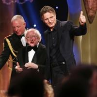 Liam Neeson picks up lifetime achievement award as Room wins big at the IFTAs