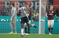 Pogba the difference as Juventus tighten grip on title with comeback win over Milan