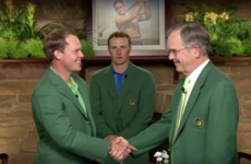 The Masters green jacket ceremony was unbearably awkward