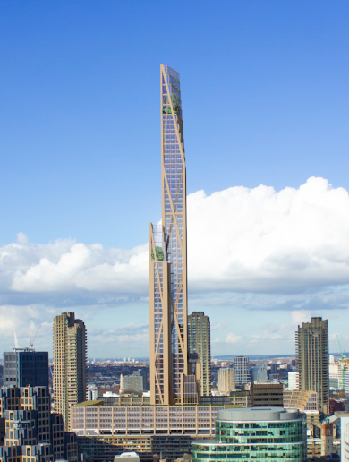 London's 80-storey wooden skyscraper could solve a major architectural problem