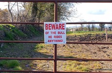 The most Irish warning sign was spotted on a Wexford farm today
