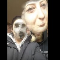 This girl's face swap with a cloud of  smoke needs to be seen to be believed