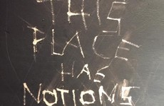 Somebody scrawled the most Irish insult onto the wall of this Dublin pub's jacks