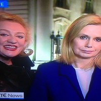 Poor Martina Fitzgerald just got videobombed on RTÉ news AGAIN
