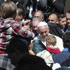 The Pope has taken in three refugee families