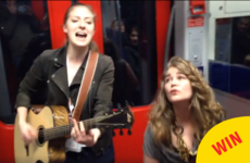A passenger joined in on this singer's train jam session and it's going viral worldwide
