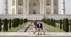 William and Kate posed for some very on-the-nose photos at the Taj Mahal
