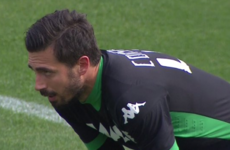 One of the worst goalkeeping howlers has just taken place in Serie A
