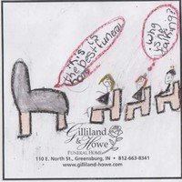 Here's what happens when you ask a kid to design an ad for a funeral home