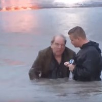 Reporter helps save man from drowning during live TV broadcast
