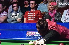 This lad was spotted wearing a Glenroe tshirt at the World Snooker Championships