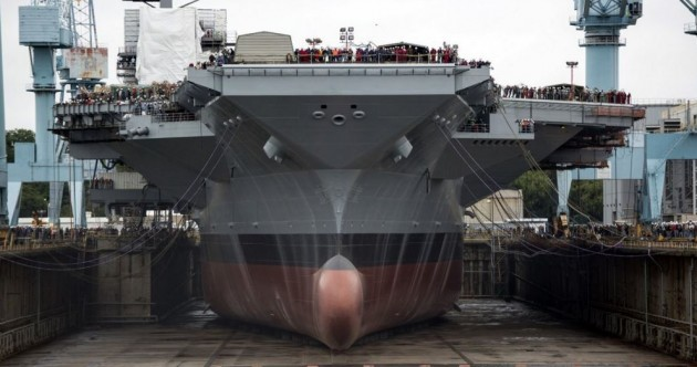 Pictures: The American military has a lot of aircraft carriers - and they're absolutely MASSIVE
