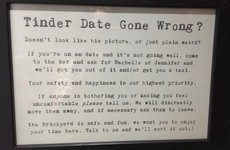 This pub has an excellent plan for saving its customers from bad Tinder dates